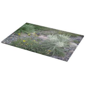 Frosty Ball Alpine Wildflowers Cutting Board