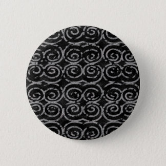 Frosty Black and White Pattern 6 Cm Round Badge
