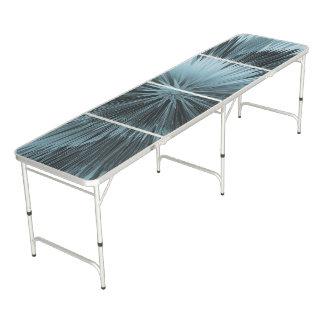Frosty Blue Burst Pong Table