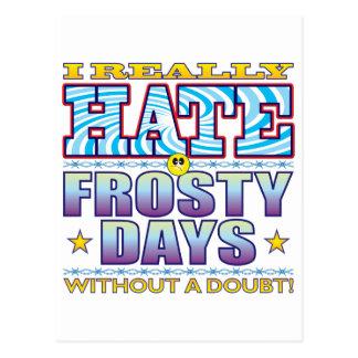 Frosty Days Hate Face Postcard