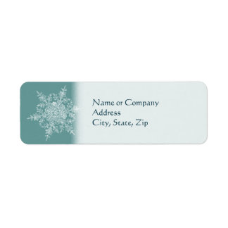Frosty Flake Return Address Label