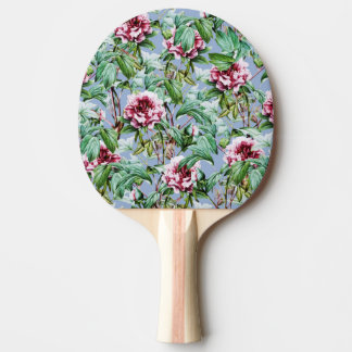 Frosty Florals Ping Pong Paddle