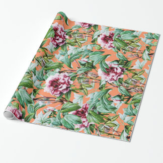 Frosty Florals V2 Wrapping Paper