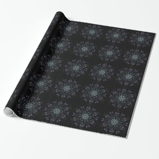 Frosty flowers wrapping paper