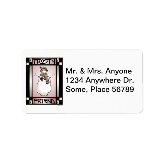 Frosty Friend Snowman #1 Address Label
