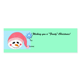 Frosty - gifttag business card