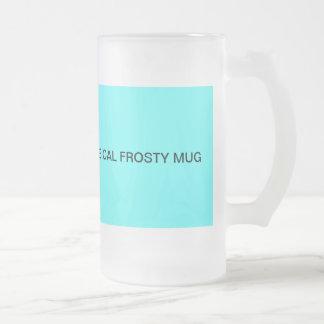 Frosty glass mug