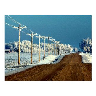 Frosty Gravel Postcard