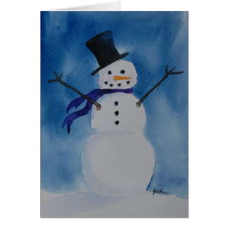 """Frosty"" Greeting Card"