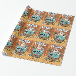Frosty In A Hot Tub Wrapping Paper