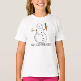 Frosty is caught picking his nose T-Shirt