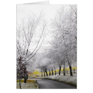 Frosty journey greeting card