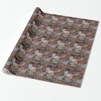 Frosty leaves wrapping paper