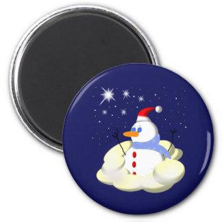 Frosty 6 Cm Round Magnet
