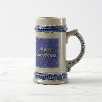 Frosty Merry Christmas Stein