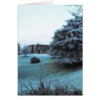 Frosty morning in the park greeting card