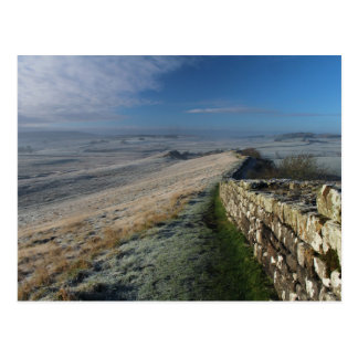 Frosty Morning on Hadrian's Wall Postcard