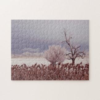 Frosty Morning View - Antelope Island - Utah Jigsaw Puzzle