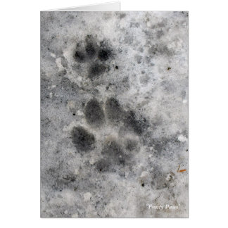 """""""Frosty Paws"""" Note Card"""
