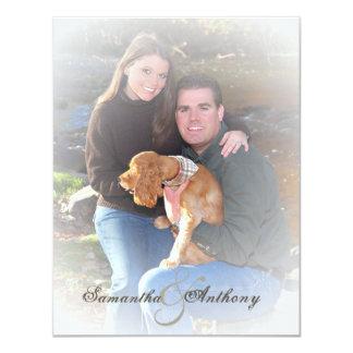 "Frosty Photo Wedding Invitations 4.25"" X 5.5"" Invitation Card"