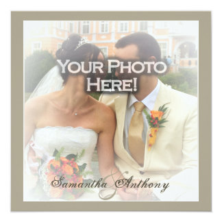 Frosty Photo Wedding Invitations