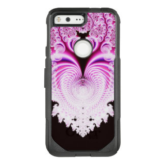 Frosty Pink Heart Abstract OtterBox Commuter Google Pixel Case