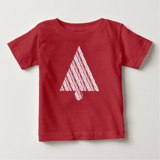Frosty Red Candy Cane Pattern Baby T-Shirt