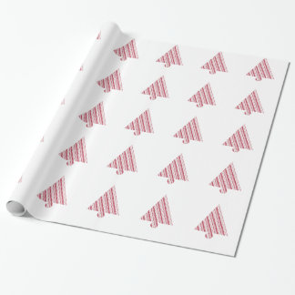 Frosty Red Candy Cane Pattern Wrapping Paper