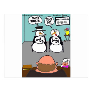 Frosty Relationships Funny Christmas gifts & Tees Post Card