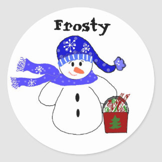 Frosty Round Sticker