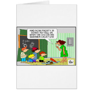 Frosty s Summer Vacation Funny Gifts Tees Card