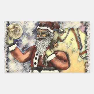 Frosty Santa Rectangular Sticker