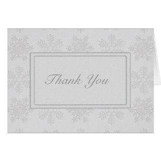 Frosty Silver Snowflakes Card