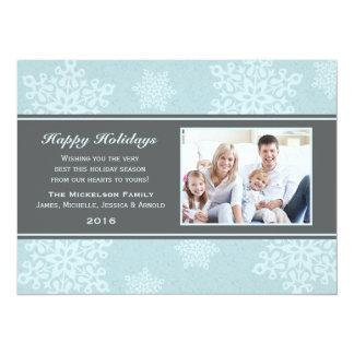 Frosty Snow Fall Holiday Flat Card 14 Cm X 19 Cm Invitation Card