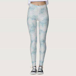 Frosty Snowflake Christmas Leggings. Leggings