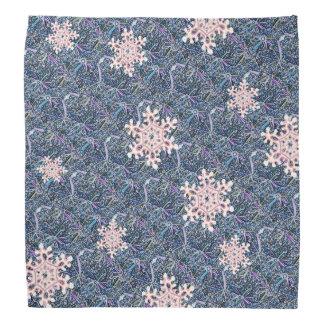 Frosty Snowflakes Patterned Bandana