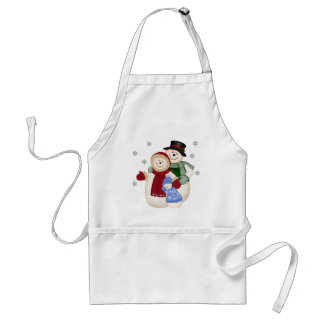 Frosty Snowman Family - Blue Aprons