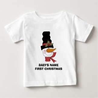 Frosty Snowman First Christmas Tshirt