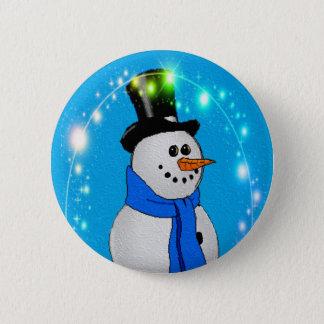 Frosty Stars 6 Cm Round Badge