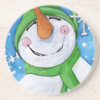 Frosty the happy snowman coaster