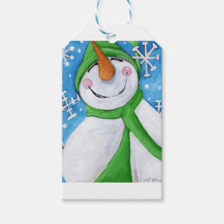 Frosty the happy snowman gift tags