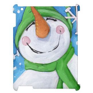 Frosty the happy snowman iPad case