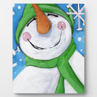 Frosty the happy snowman plaque