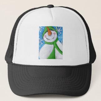 Frosty the happy snowman trucker hat