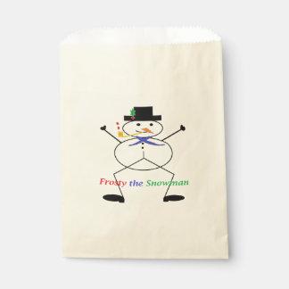 """Frosty the Snowman"" Ecru Favor Bags"