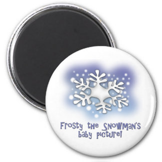 Frosty the snowman's baby pictures magnet