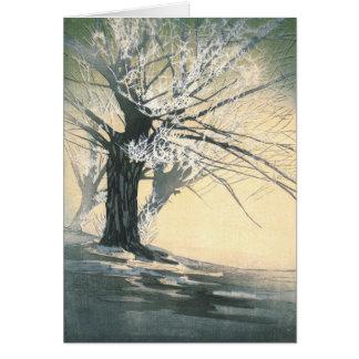 Frosty Tree 1920 Card