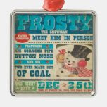 Frosty Vintage Christmas Ornament