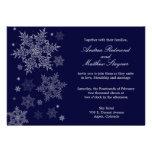 Frosty Winter Snowflake Wedding invitation