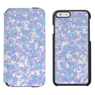 Frosty World Blue Pink Futuristic Laser Snow Incipio Watson™ iPhone 6 Wallet Case